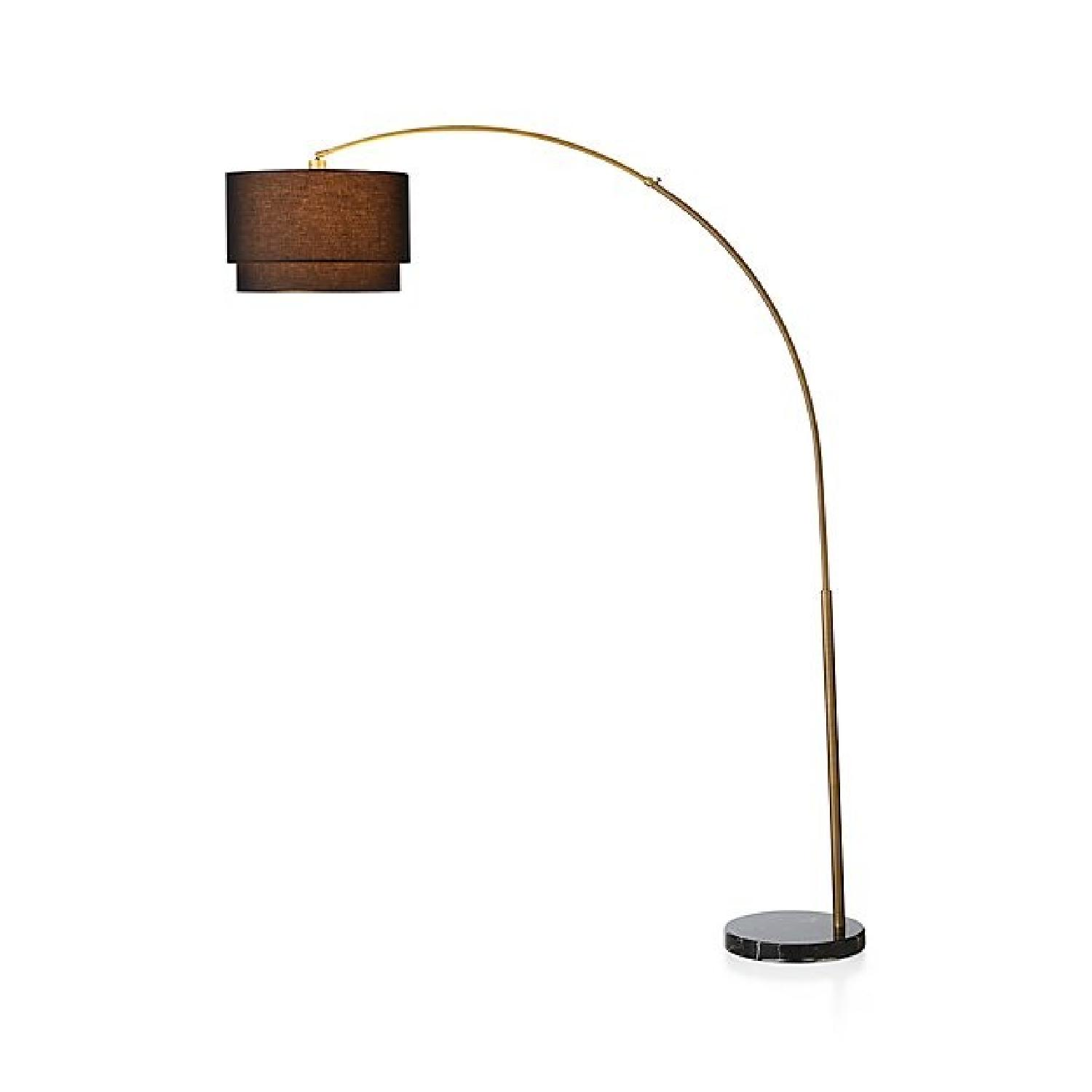 Crate & Barrel Meryl Arc Floor Lamp