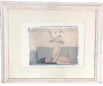 She Hit Pause Studios Girl w/ Plane Framed Art