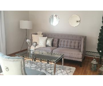 Target Gray Tufted Sofa