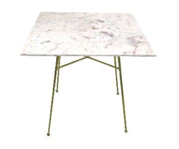 Selamat Justina Blakeney Jani Marble & Brass Bistro Table