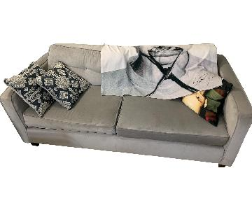 CB2 Velvet 2-Seater Sofa