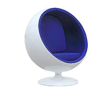 Eero Aarnio Fiberglass Ball Chair Replica