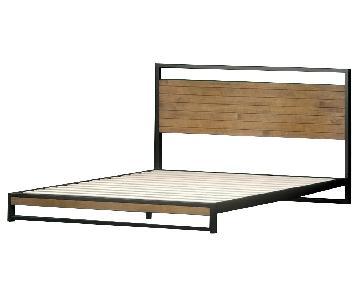 Zinus Suzanne Metal & Wood Platform Bed w/ Headboard
