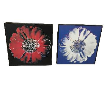 Andy Warhol Framed Flower Prints