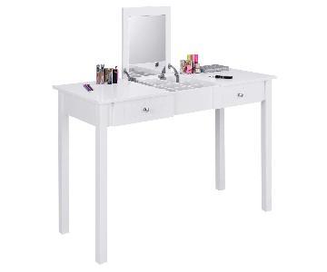 Giantex Vanity Dressing Table w/ Flip Makeup Mirror