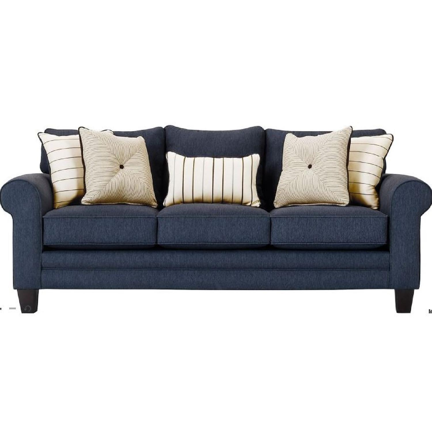 Raymour & Flanigan McKinley Sofa in Navy