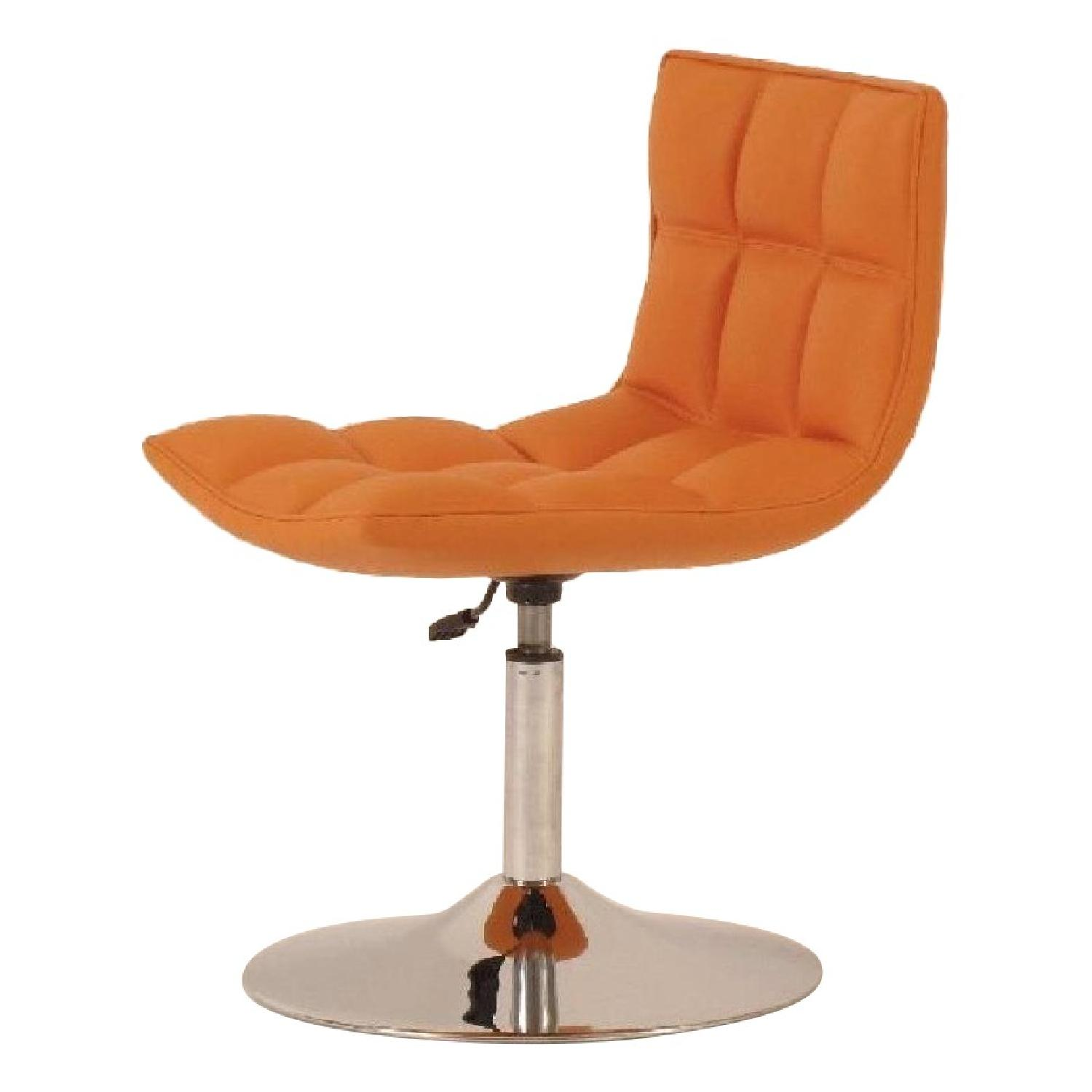 Faux Leather Adjustable Height Swivel Dining Chairs