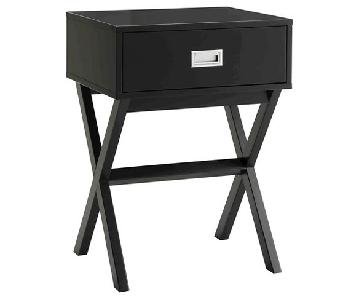 Convenience Concepts Black Bedside Tables