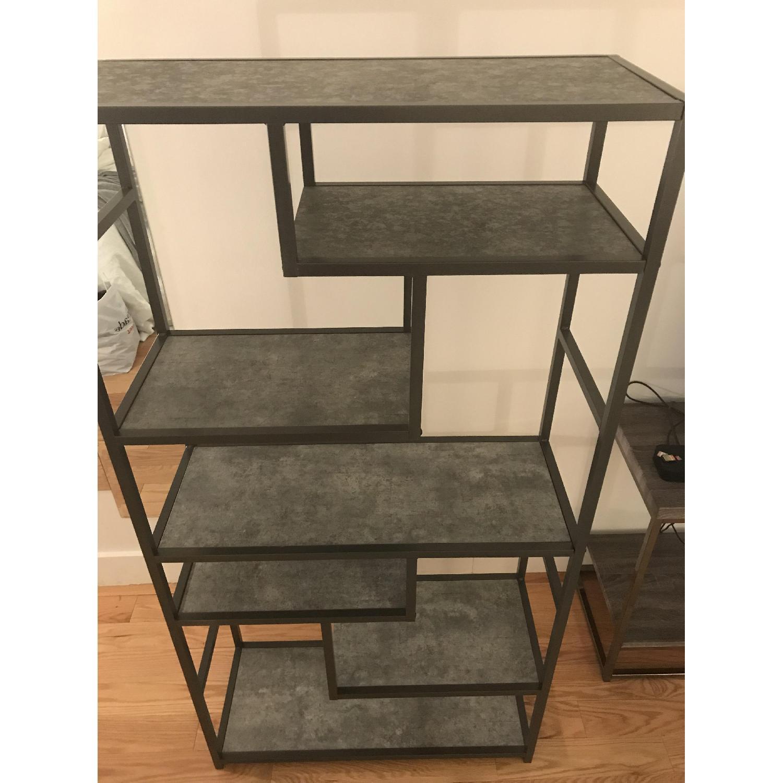 Dark Grey Shelving Units-1
