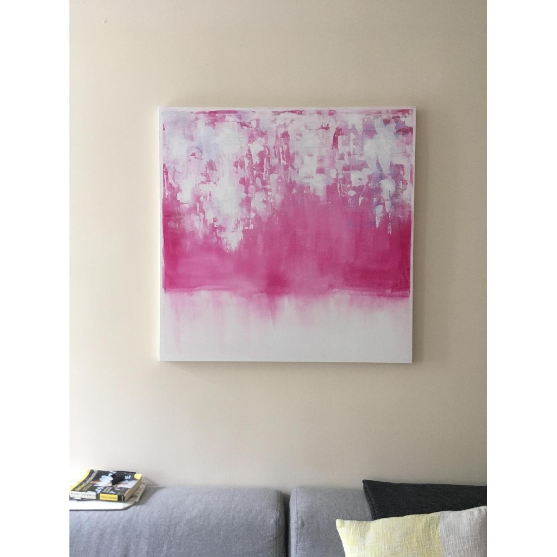 Original Watercolor Modern Abstract Canvas Art-0