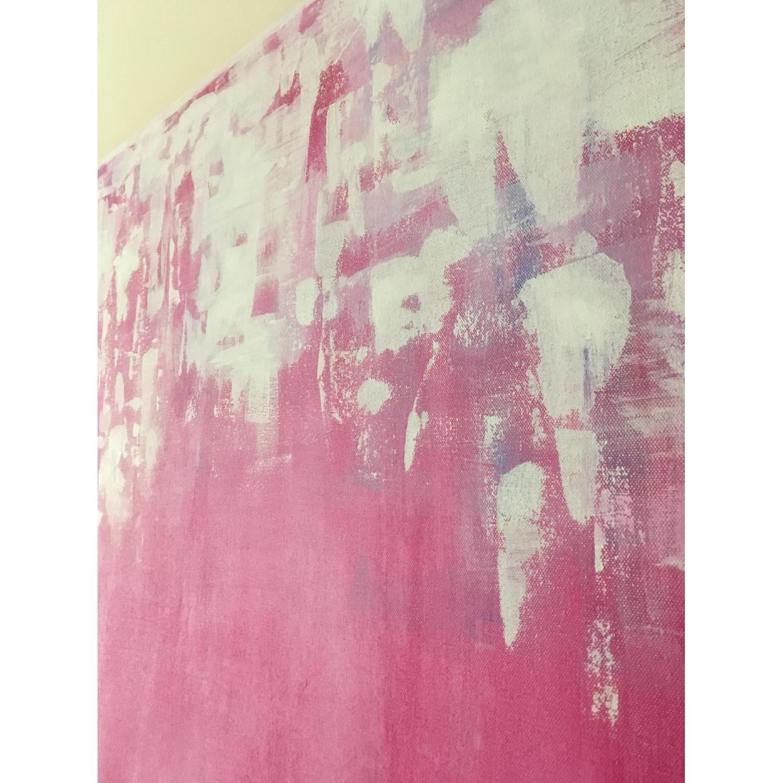 Original Watercolor Modern Abstract Canvas Art-2