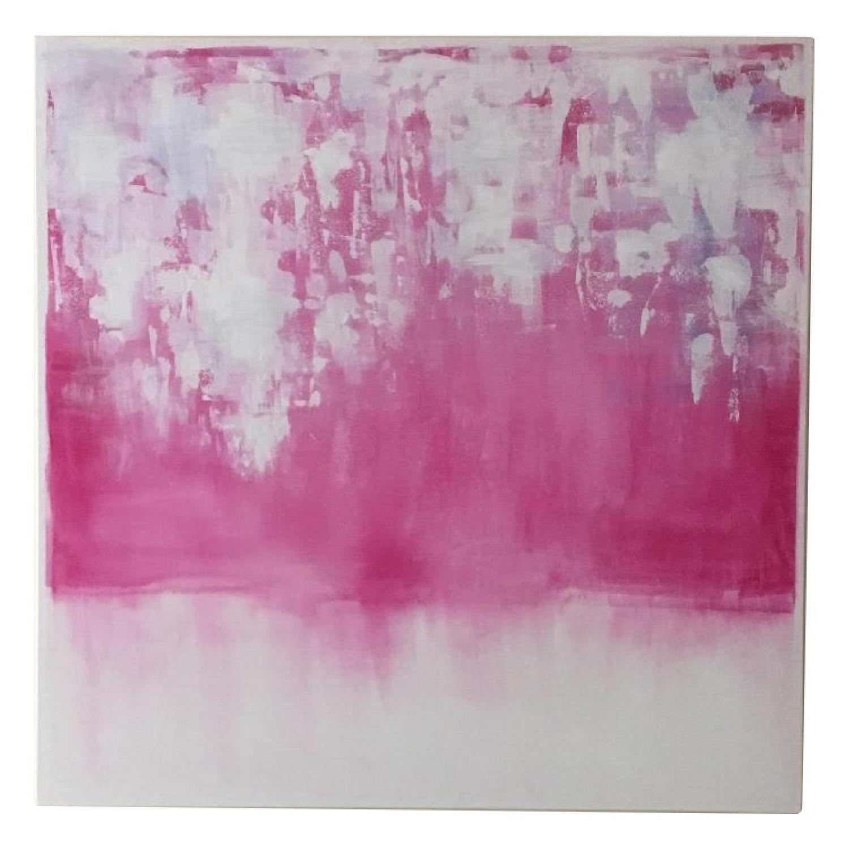 Original Watercolor Modern Abstract Canvas Art