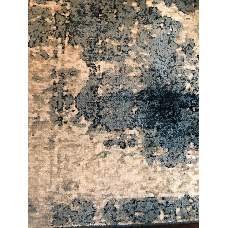 Blue & Ivory Patterned Rug-2