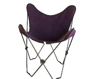Crate & Barrel Butterfly Chair