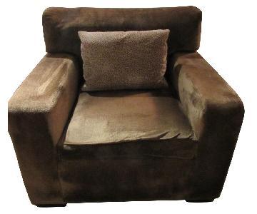 Macy's Velvet Microfiber Arm Chair