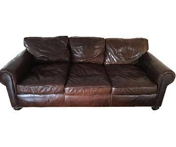 Restoration Hardware Leather Lancaster sofa