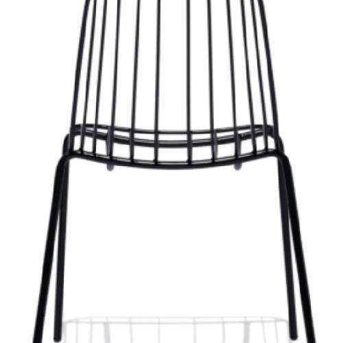 Used Industry West Black Steel Chair for sale on AptDeco
