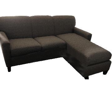 Grey 2-Piece Sectional Sofa