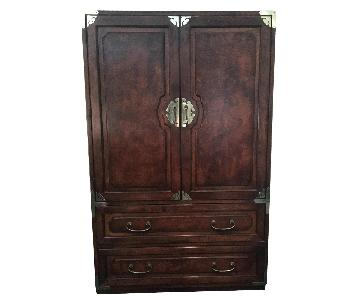 Raymour & Flanigan Bernhardt Armoire w/ Asian Accents