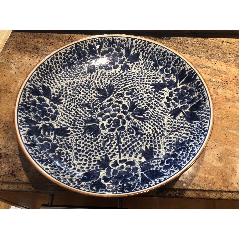 Blue Chinoiserie Ceramic Plate-0