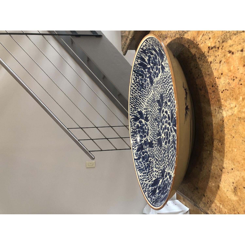 Blue Chinoiserie Ceramic Plate-1