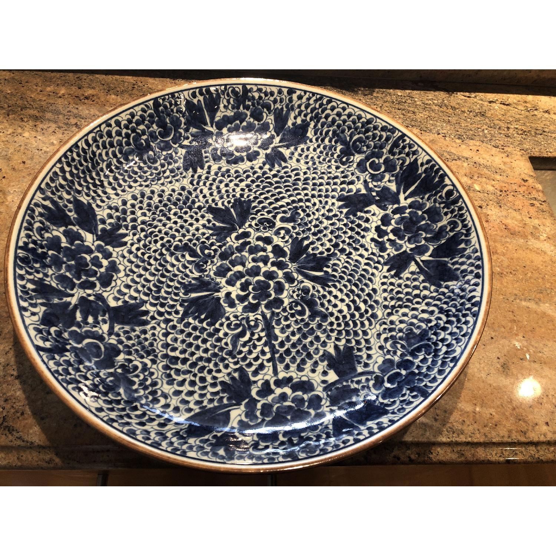 Blue Chinoiserie Ceramic Plate-2