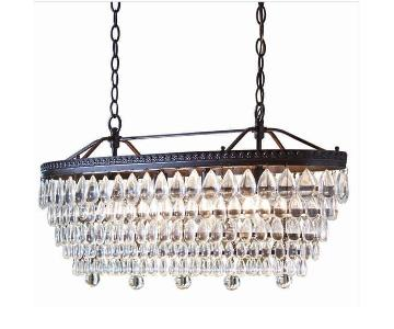 Allen+Roth 4-Light Oil-Rubbed Bronze Traditional Chandelier