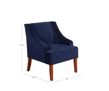 Target Velvet Swoop Arm Chair in Blue