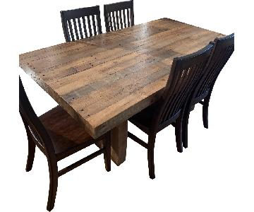 West Elm Emmerson Dining Table w/ 6 Pottery Barn Chairs