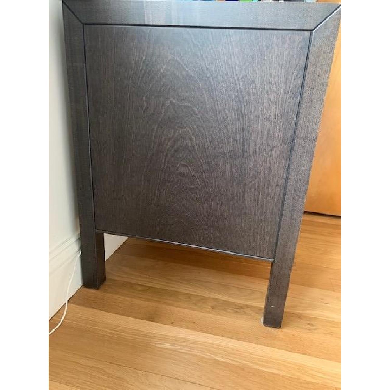 Crate & Barrel Wenge 2-Drawer Nightstand-2