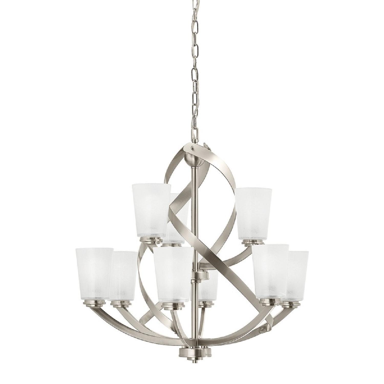 Kichler Layla 9-Light Glass Shaded Chandelier