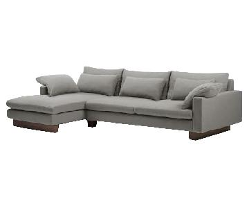 West Elm Harmony 2-Piece Chaise Sectional Sofa