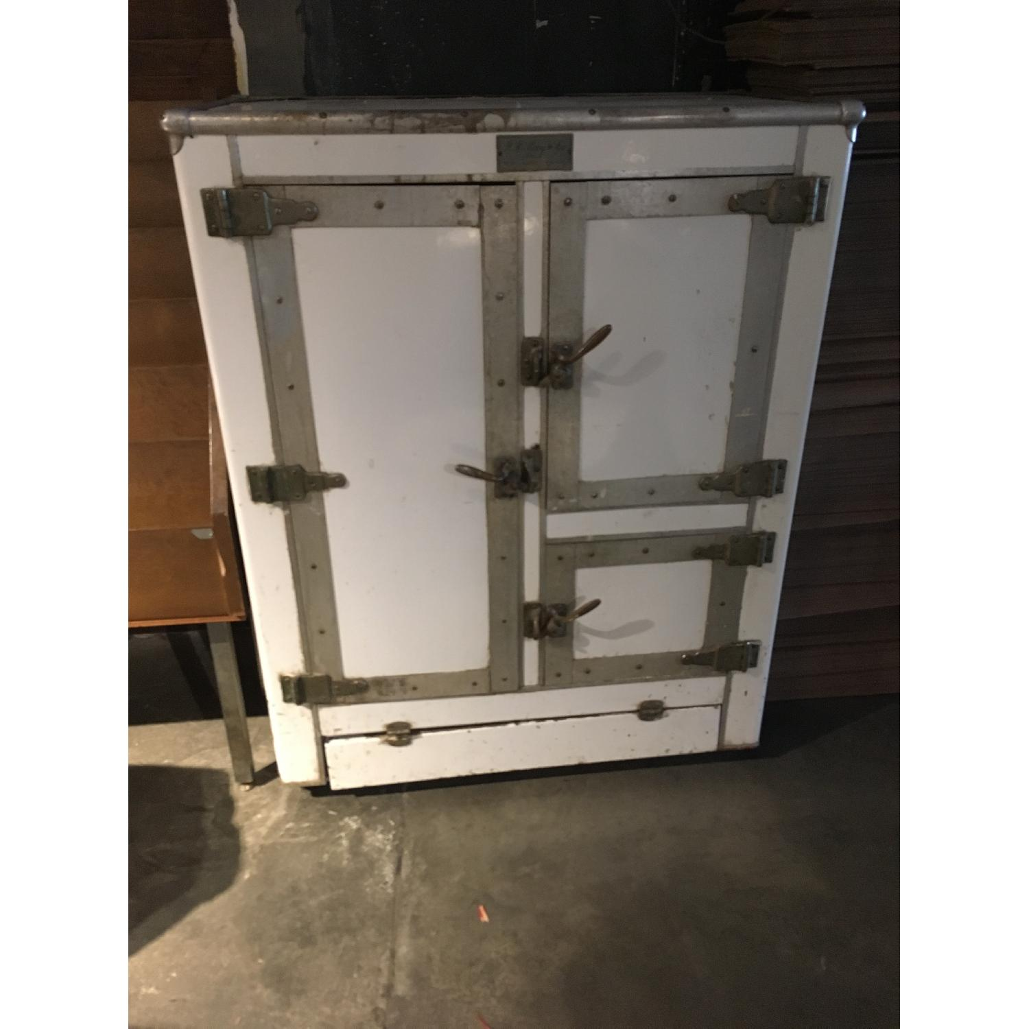 1920s R. H. Macy & Co Ice Box Chest Storage Cabinet-0
