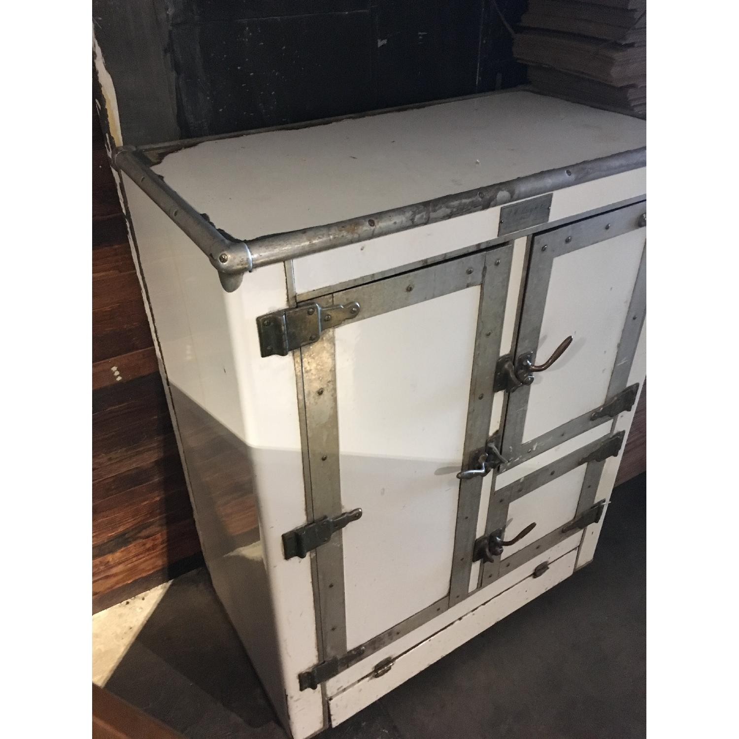 1920s R. H. Macy & Co Ice Box Chest Storage Cabinet-2