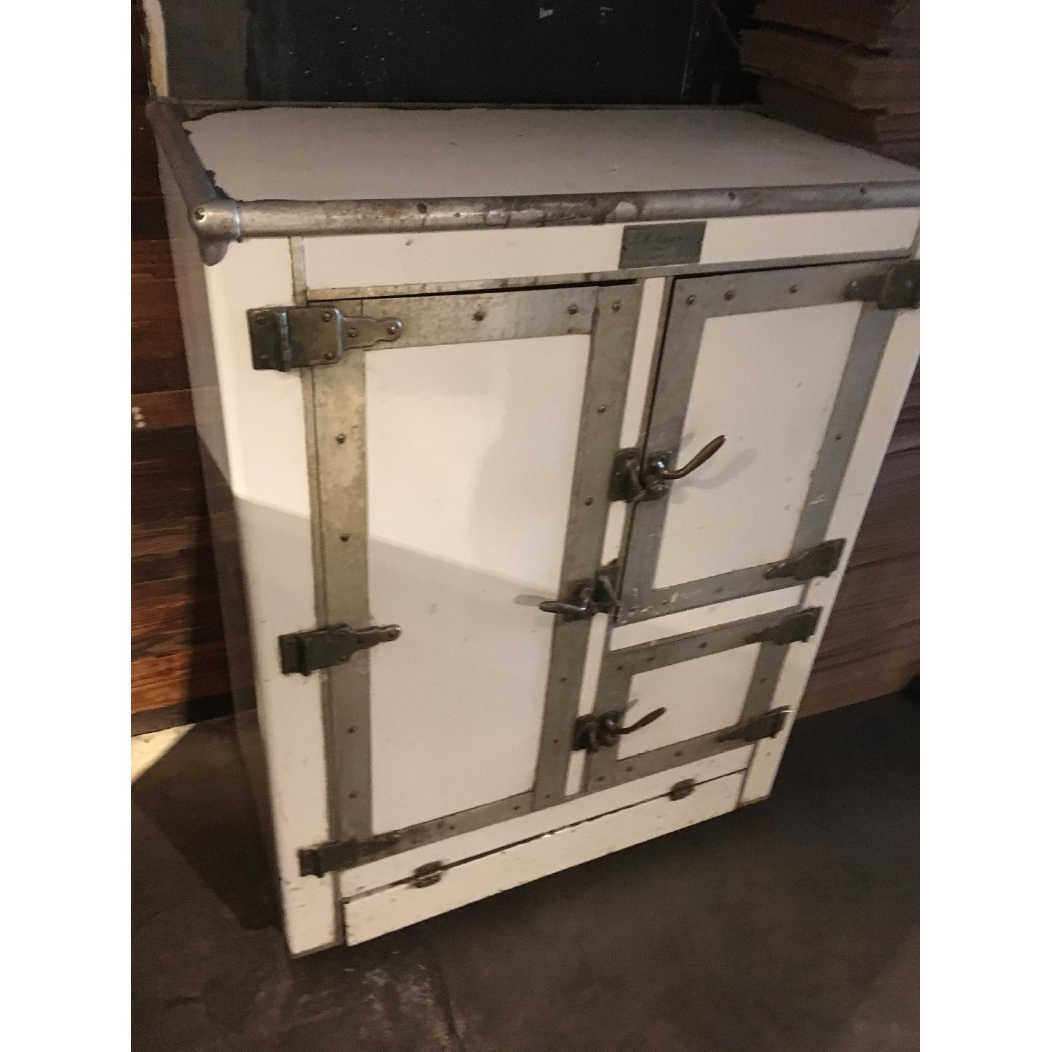 1920s R. H. Macy & Co Ice Box Chest Storage Cabinet-3