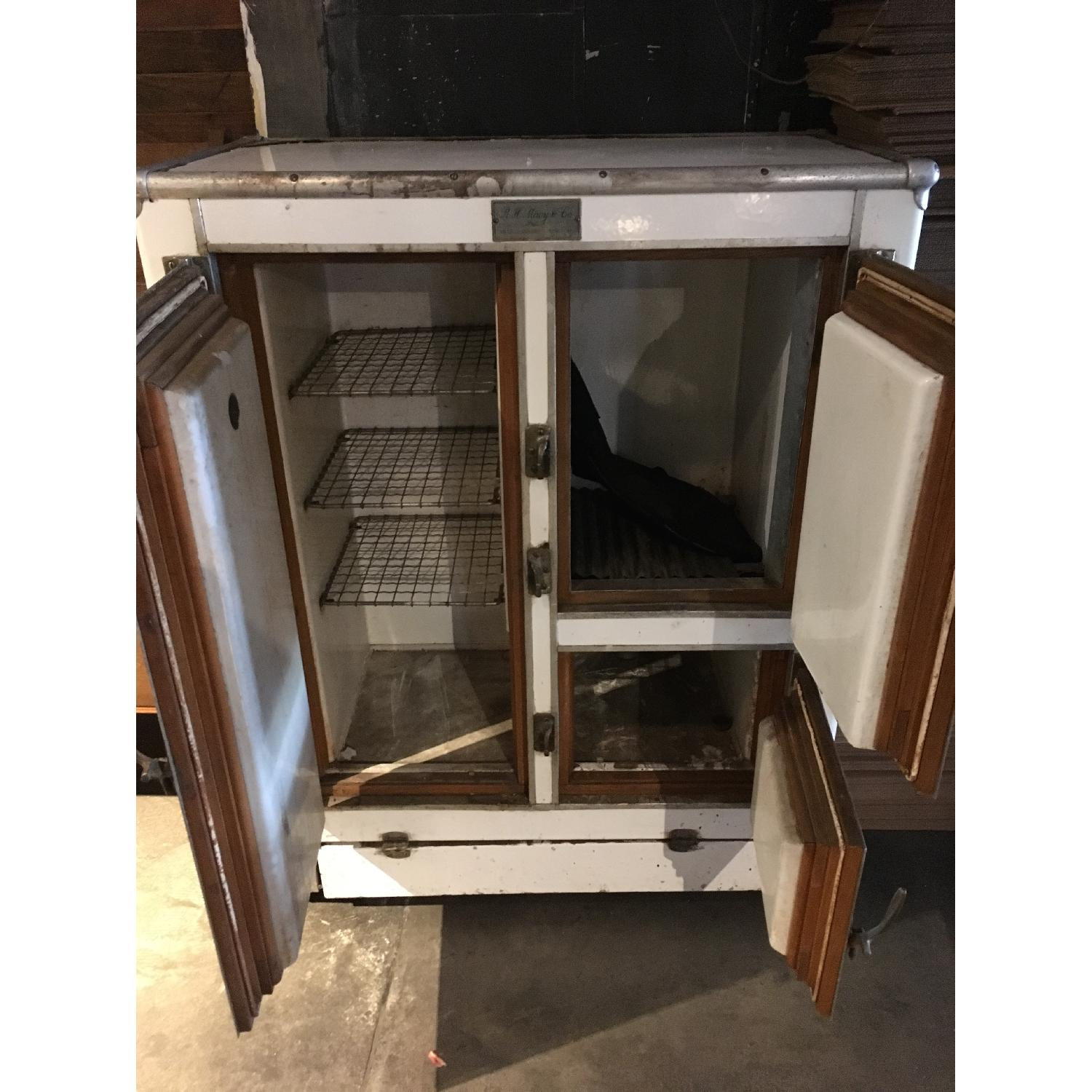 1920s R. H. Macy & Co Ice Box Chest Storage Cabinet-5
