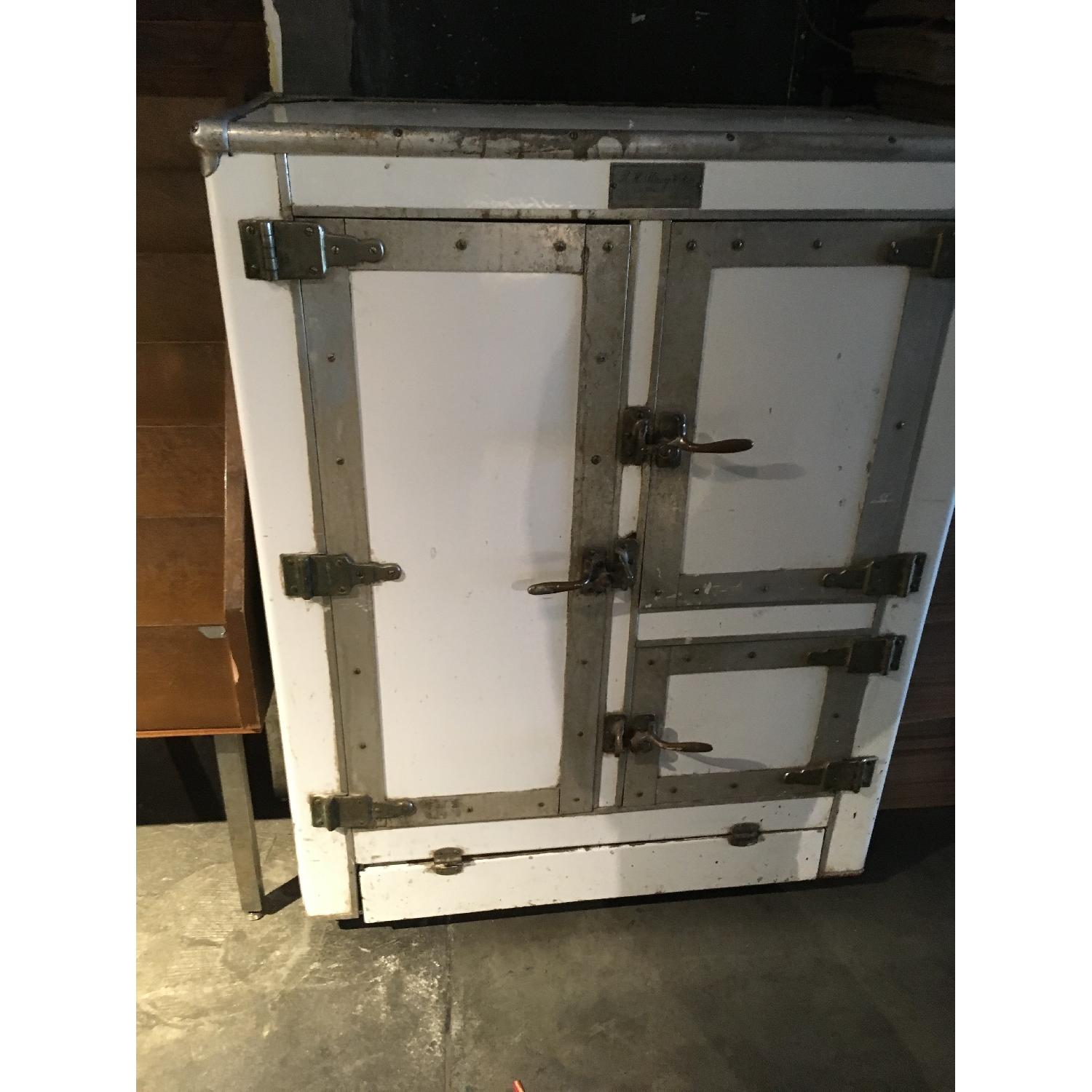 1920s R. H. Macy & Co Ice Box Chest Storage Cabinet-8
