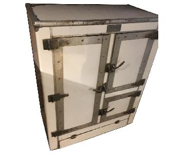 1920s R. H. Macy & Co Ice Box Chest Storage Cabinet