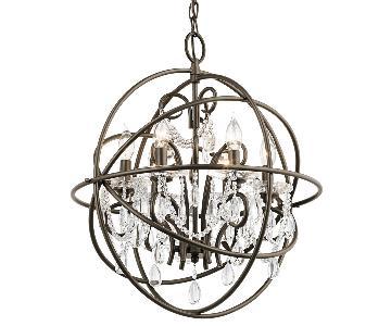 6-Light Olde Bronze Contemporary Globe Chandelier