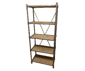 Canvas Interiors Metal & Wood Industrial Bookcase