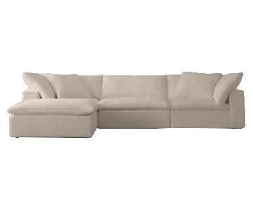 Restoration Hardware Cloud Modular Chaise Sectional Sofa