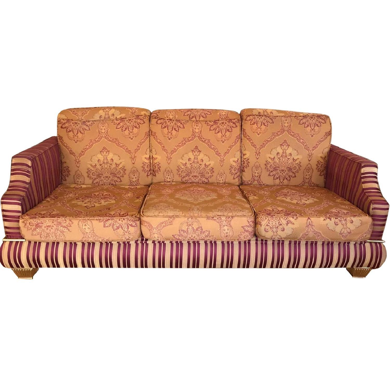 Pattern Fabric 3-Seater Sofa
