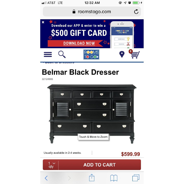 Rooms To Go Belmar Black Dresser-0