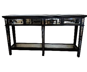 Arhaus Black Wood & Mirrored Console Table