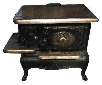 Vintage Mid 1800s Black Stove Sideboard