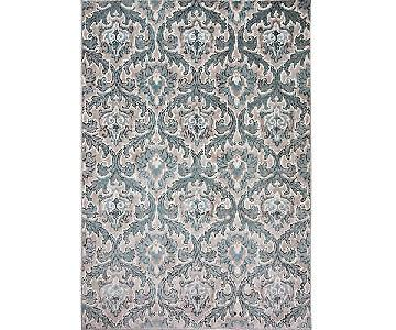 Three Posts Hawley Blue Area Rug