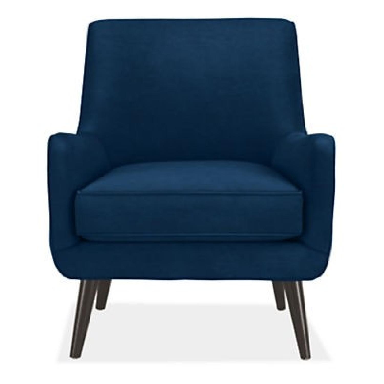 Room & Board Quinn Indigo Velvet Chair