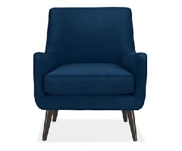 Room & Board Quinn Indigo Velvet Chair