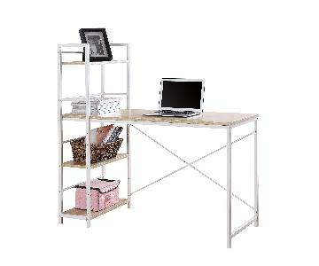Becozier Computer Desk in Brown/White