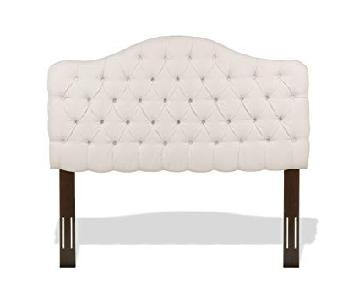 Fashion Bed Ivory Tufted Full/Queen Headboard